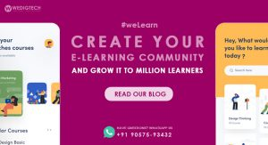 Create an E-Learning Community with Human Element and Grow It to Million Learners